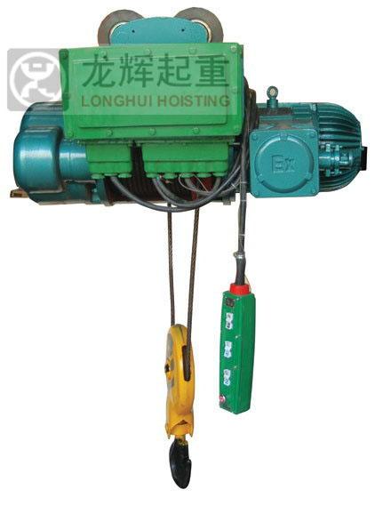山东龙辉起重机械有限公司 BCD型 防爆钢丝绳电动葫芦